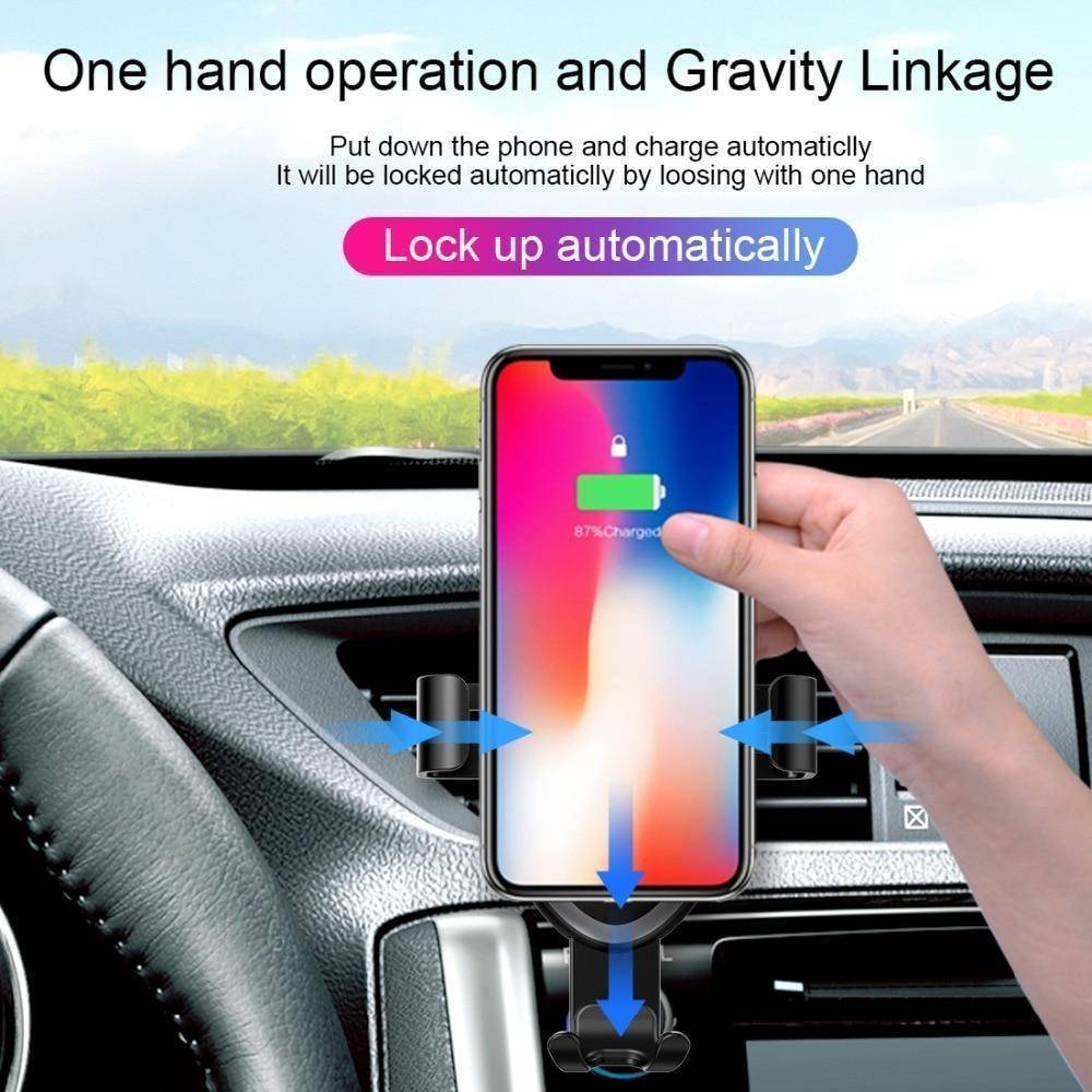 iPHone Qi Wireless Car Charger + Mount  -  Universal  -  Honey Locker -  iPhone Charger