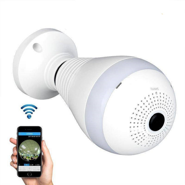 Panoramic Wireless Bulb Security Camera  -  BUY ONE  -  Honey Locker -  Gadgets