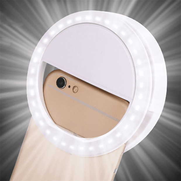 Selfie Ring Light  -  Black  -  Honey Locker -  Phone Accessories