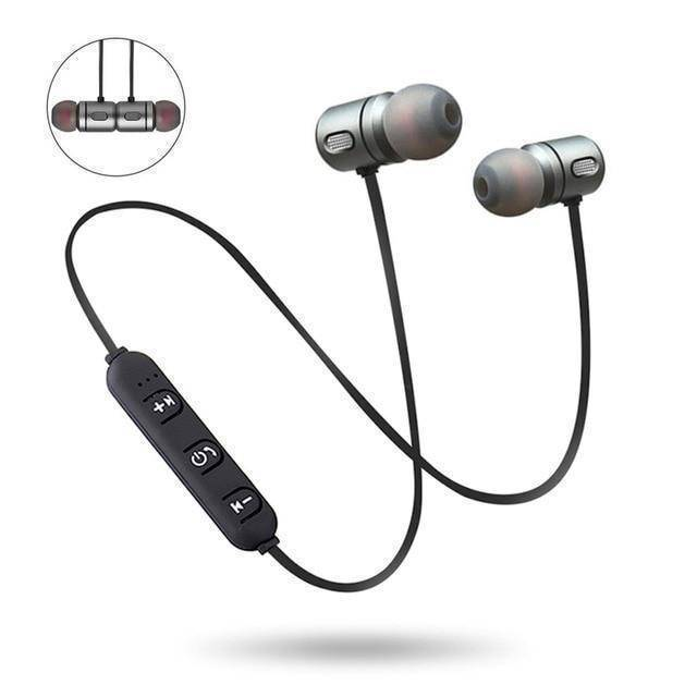SKG Magnetic Bluetooth Earbuds  -  Black  -  Honey Locker -  Earphones