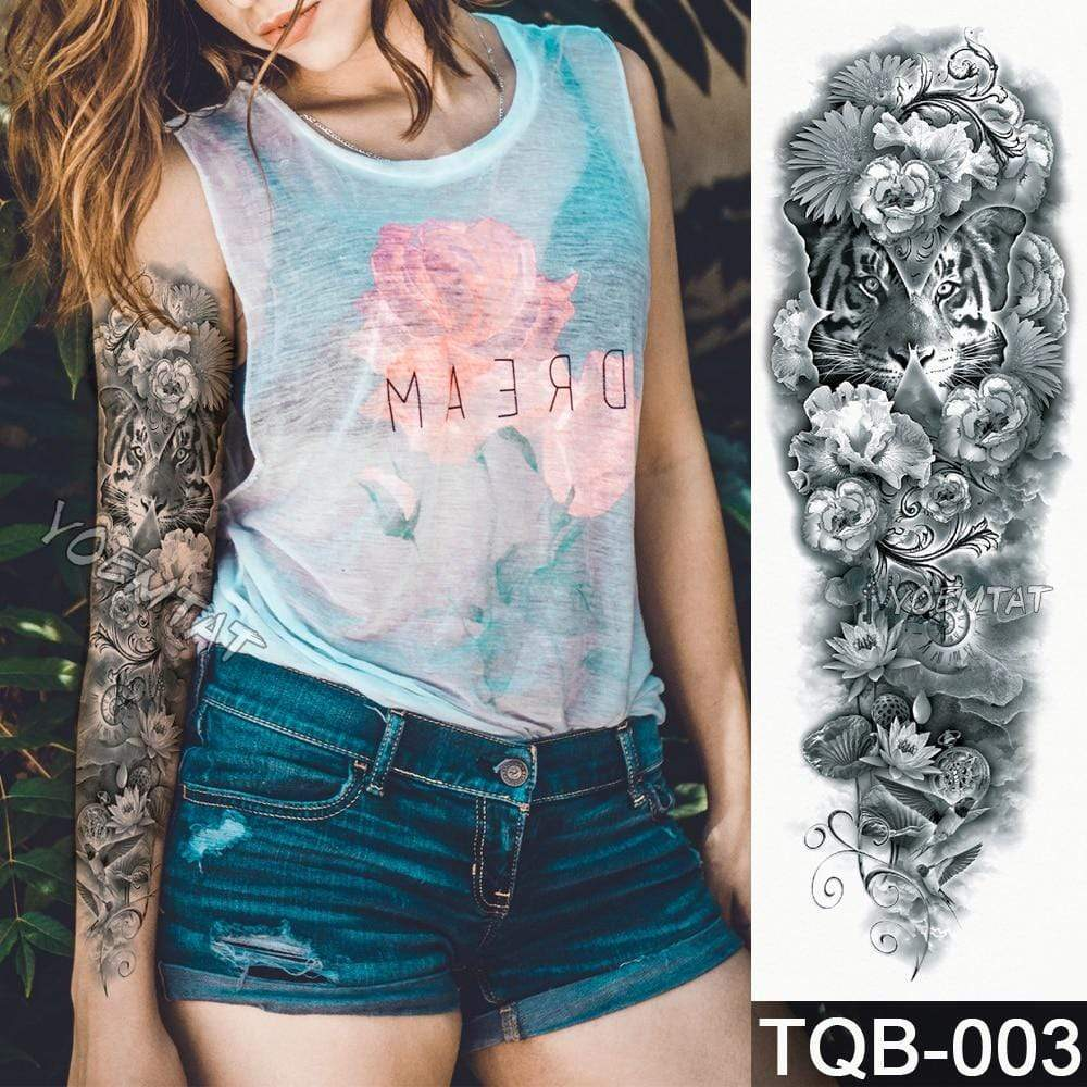 Temporary Waterproof Tattoo Sleeves For Adults  -  03  -  Honey Locker -  Temporary Tattoos