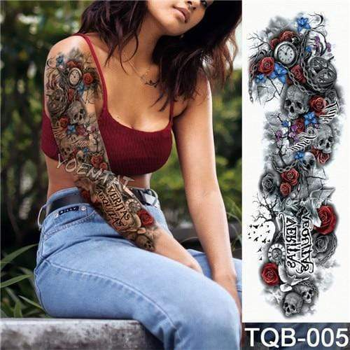 Temporary Waterproof Tattoo Sleeves For Adults  -  05  -  Honey Locker -  Temporary Tattoos