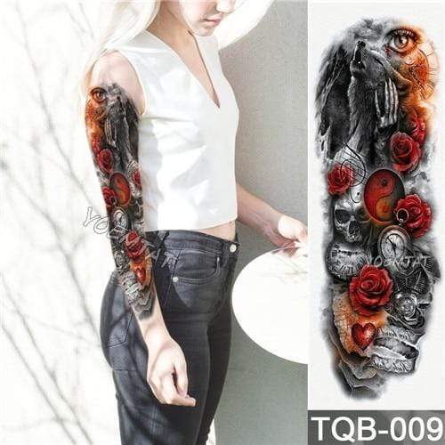 Temporary Waterproof Tattoo Sleeves For Adults  -  09  -  Honey Locker -  Temporary Tattoos