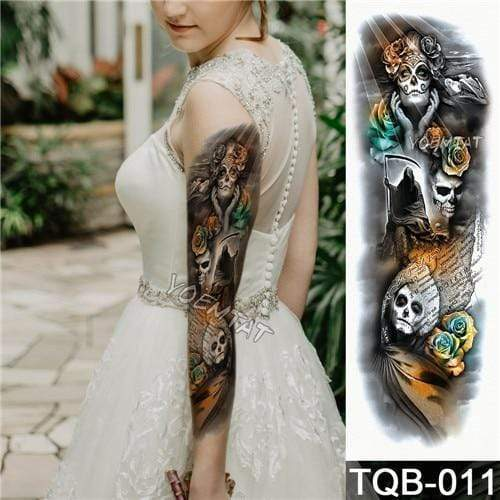 Temporary Waterproof Tattoo Sleeves For Adults  -  11  -  Honey Locker -  Temporary Tattoos