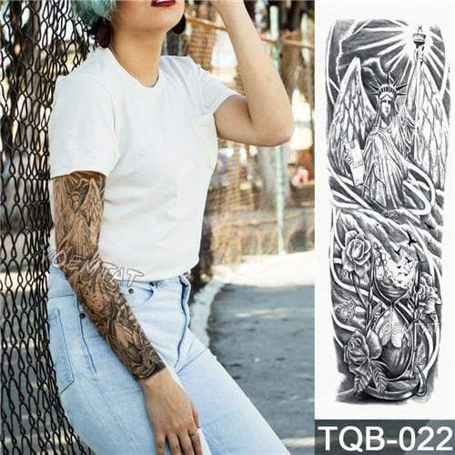 Temporary Waterproof Tattoo Sleeves For Adults  -  22  -  Honey Locker -  Temporary Tattoos