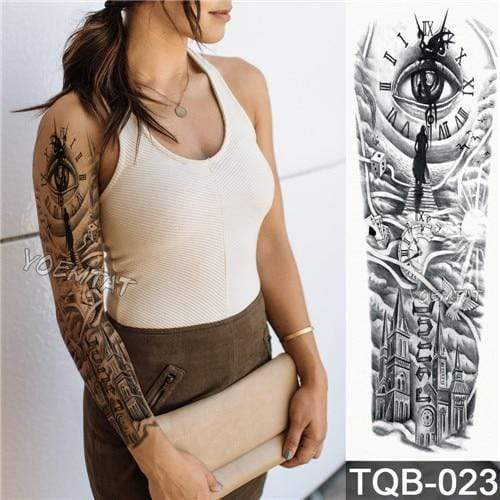 Temporary Waterproof Tattoo Sleeves For Adults  -  23  -  Honey Locker -  Temporary Tattoos