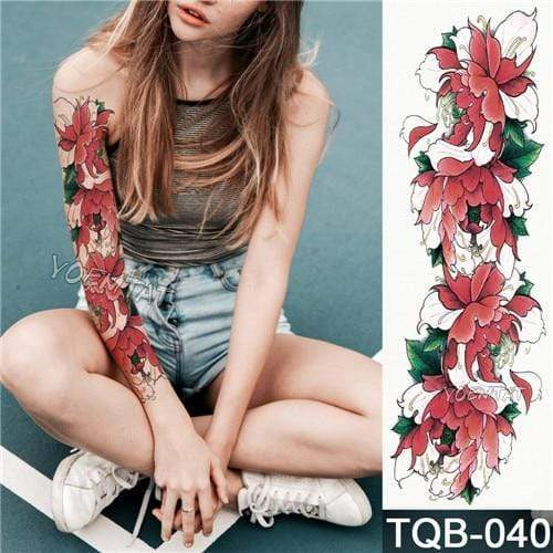 Temporary Waterproof Tattoo Sleeves For Adults  -  40  -  Honey Locker -  Temporary Tattoos