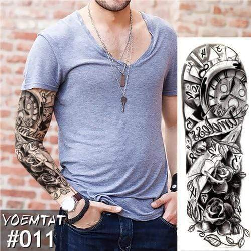 Temporary Waterproof Tattoo Sleeves For Adults  -  V11  -  Honey Locker -  Temporary Tattoos