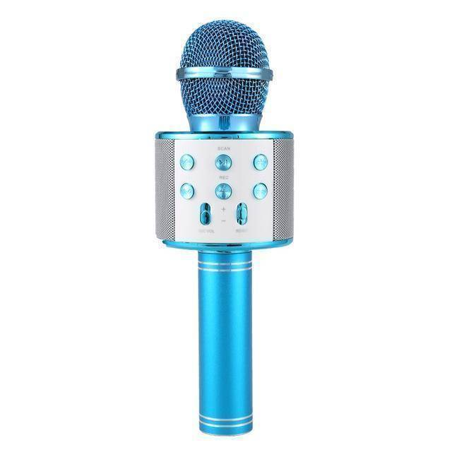 Wireless Bluetooth Karaoke Microphone  -  Blue / BUY ONE  -  Honey Locker -  Hidden