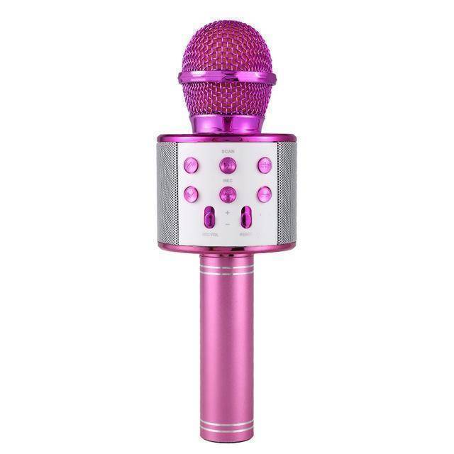 Wireless Bluetooth Karaoke Microphone  -  Purple / BUY ONE  -  Honey Locker -  Hidden