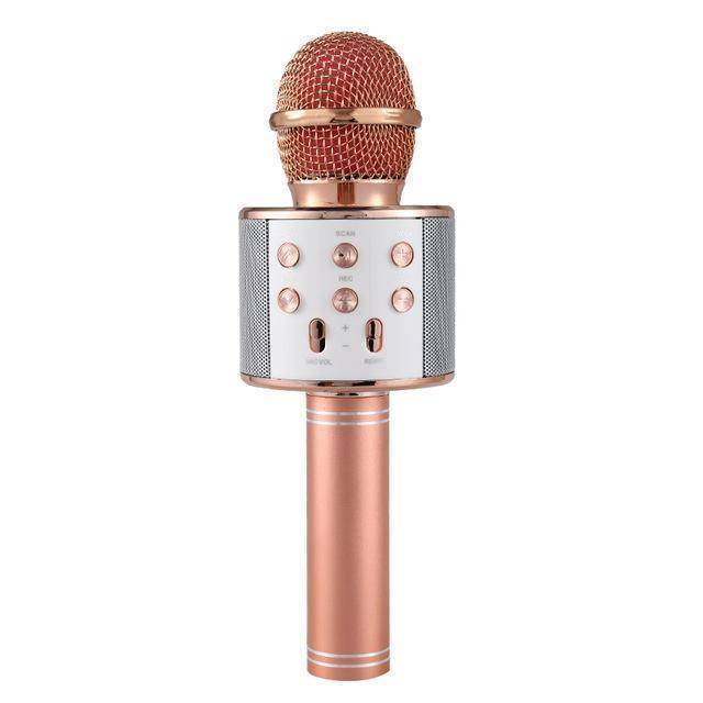 Wireless Bluetooth Karaoke Microphone  -  Rose Gold / BUY 2 (SAVE)  -  Honey Locker -  Hidden