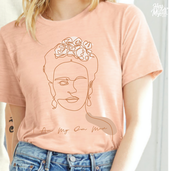 Fridas Muse Tee in Durazno