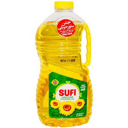 Sufi Cooking Oil Sunflower 3L