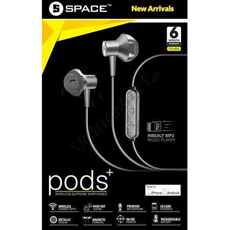Pods+ PD-655 Bluetooth Earphones