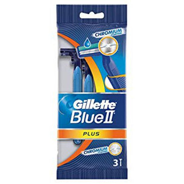 Gillette Blue II Plus Razors (Pack of 3)