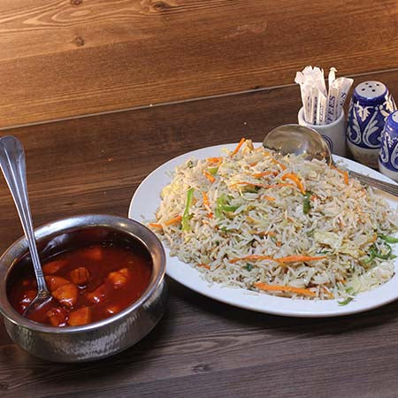 Chicken Manchurian / Rice