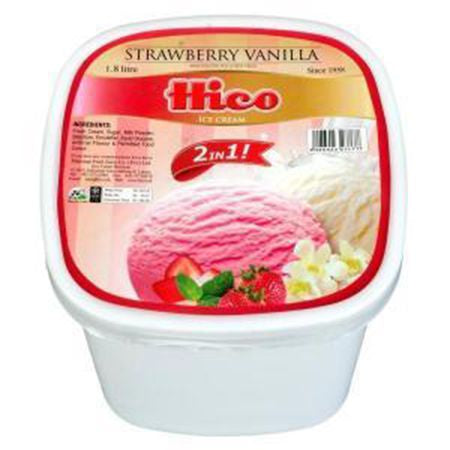 Hico Strawberry Vanilla Ice Cream (Large)