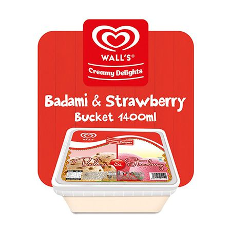 Walls Badami Strawberry Large 1.4 Litre
