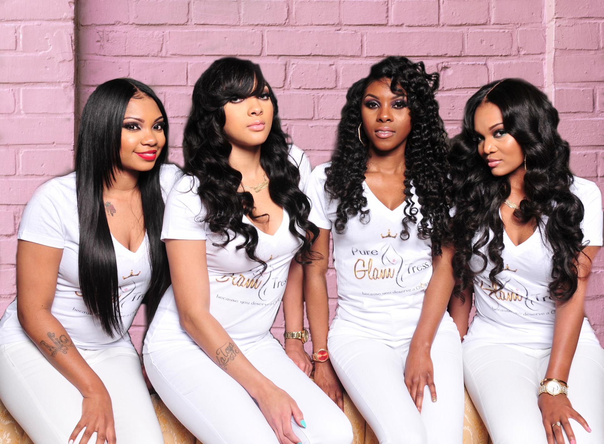 PureGlamTress models wearing the best virgin hair deals for the best virgin hair company 2019