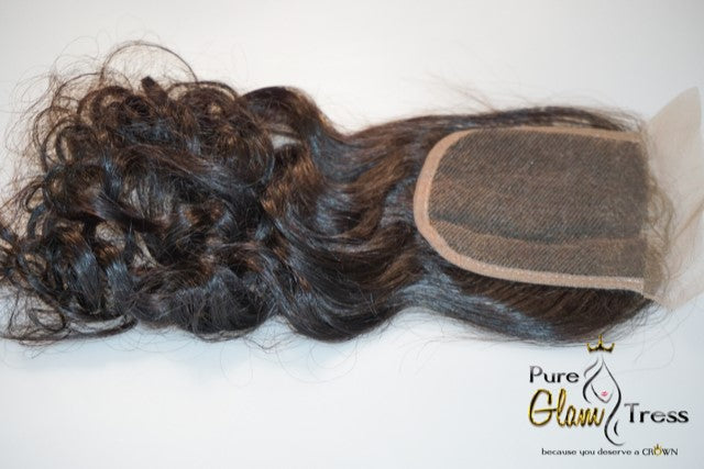 Virgin Brazilian Wavy Lace Closure