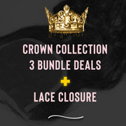 PureGlamTress Crown Collection - 3 Bundle Deal w/ Lace Closure