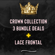 PureGlamTress Crown Collection- 3 Bundle Deal w/ Lace Frontal