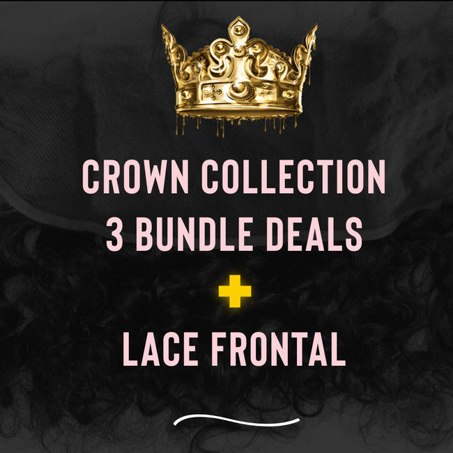 PureGlamTress Crown Collection  - 3 Bundle Deal w/ Lace Frontal