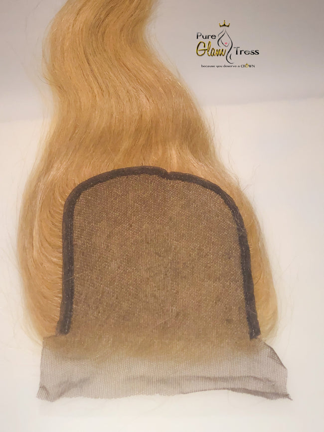 613 Platinum Silky Straight Lace Closures