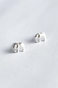 Baby Elephant – Silver Earrings