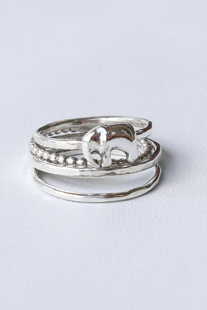 Baby Elephant – Silver Ring