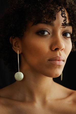 Independent – Brass & Silver Earrings