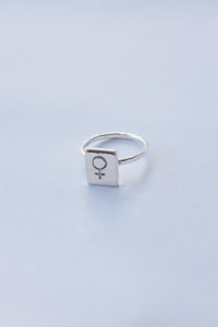 Feminist Statement – Silver Ring