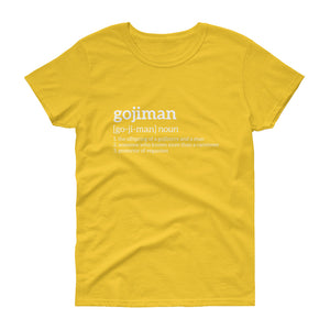GojiMan Definition Women's short sleeve t-shirt