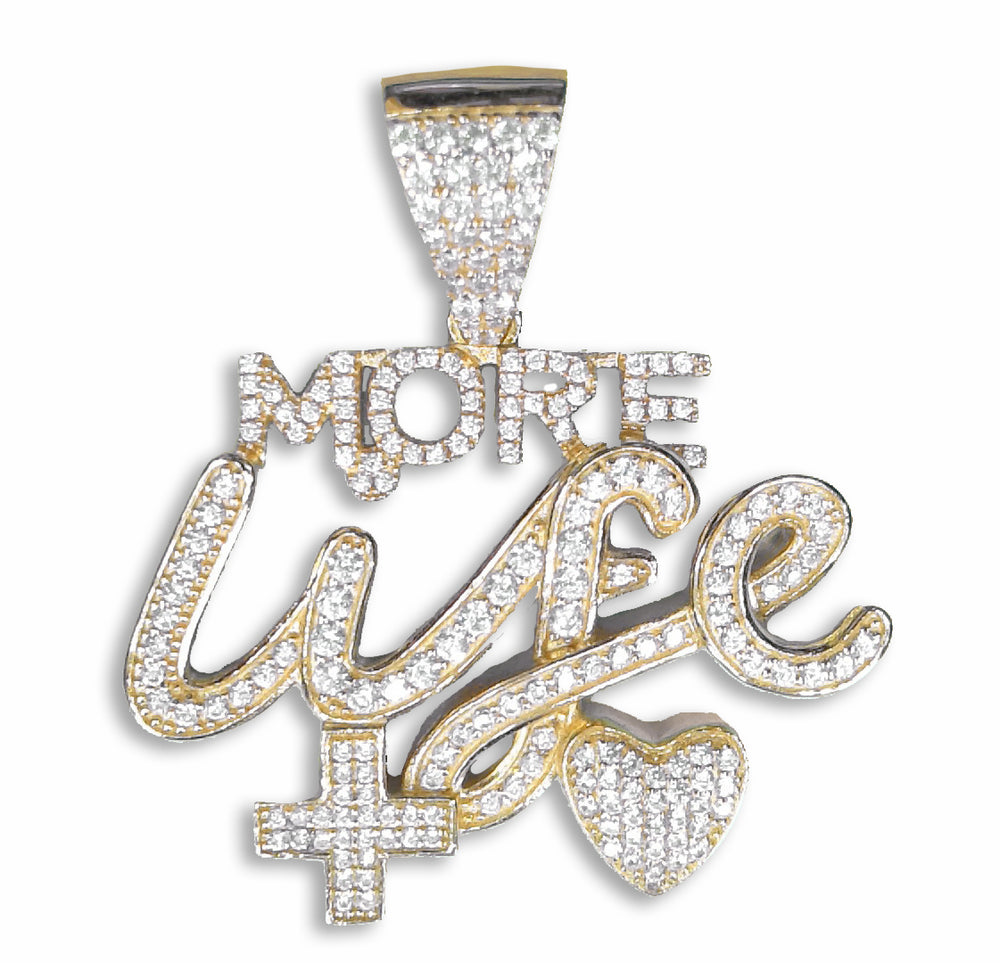 Sterling Silver More Life Pendant***