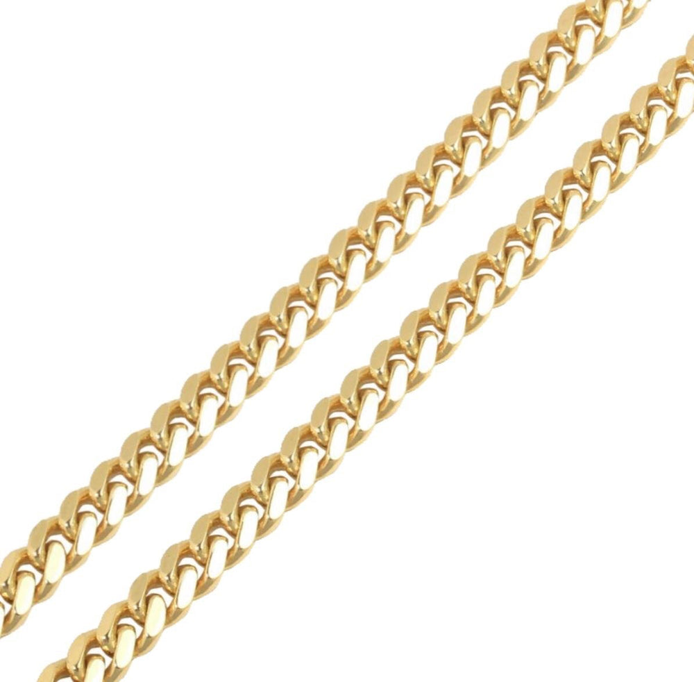 9ct Yellow Gold Cuban Bracelet 10mm 52.8g