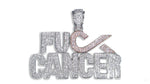 "Sterling Silver ""F*ck Cancer"" Pendant set with Cubic Zirconia"