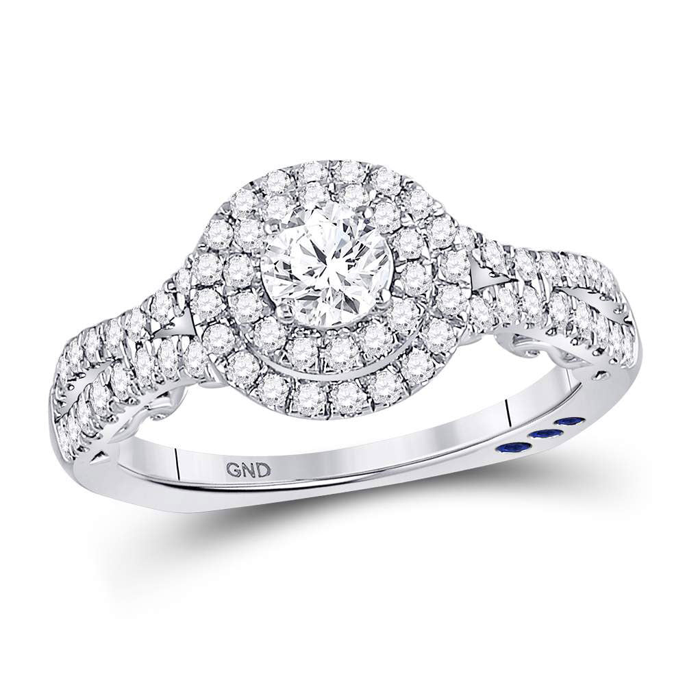 Womens Round Diamond Solitaire Bridal Wedding Engagement Ring 1.00ct