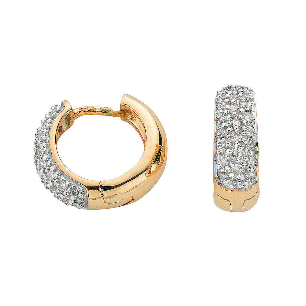 9ct Yellow Gold 0.42ct Diamond Earrings