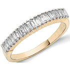 18ct Yellow Gold 0.50ctw Baguette Cut Diamond Eternity Ring