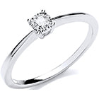 9ct White Gold 0.10ct Solitaire Ring