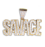 Savage Pendant (18ct Gold Plated) set with Cubic Zirconia