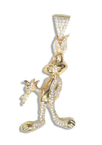Sterling Silver Bunny Pendant (Gold Plated) set with Cubic Zirconia