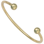 9ct Yellow Gold Solid 3mm Torque Bangle