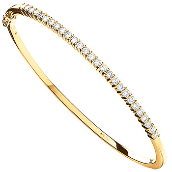 9ct Yellow Gold 1.10ctw Diamond Bangle