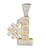 #1 Dad Pendant (18ct Gold Plated) set with Cubic Zirconia