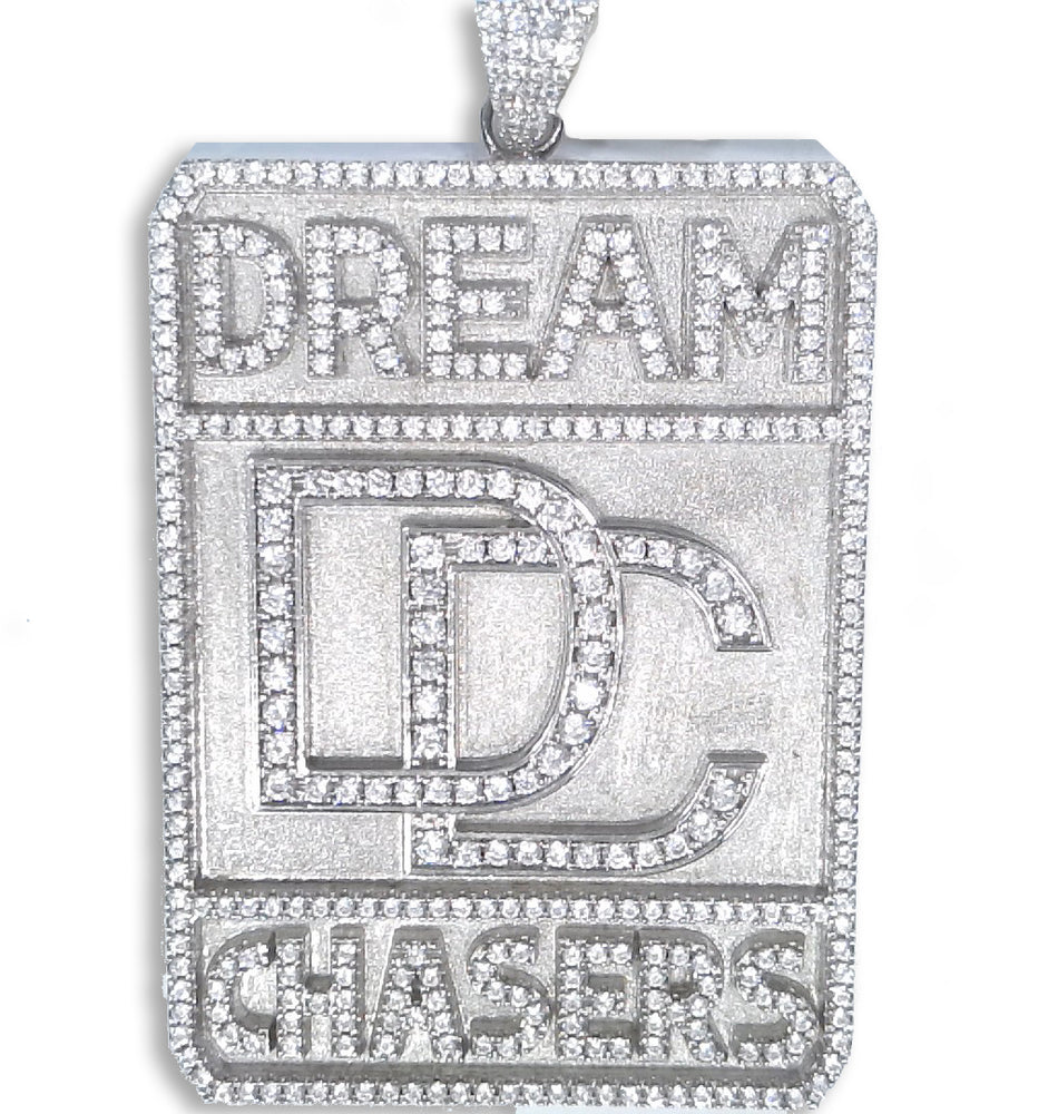 Sterling Silver Dream Chasers Pendant set with Cubic Zirconia