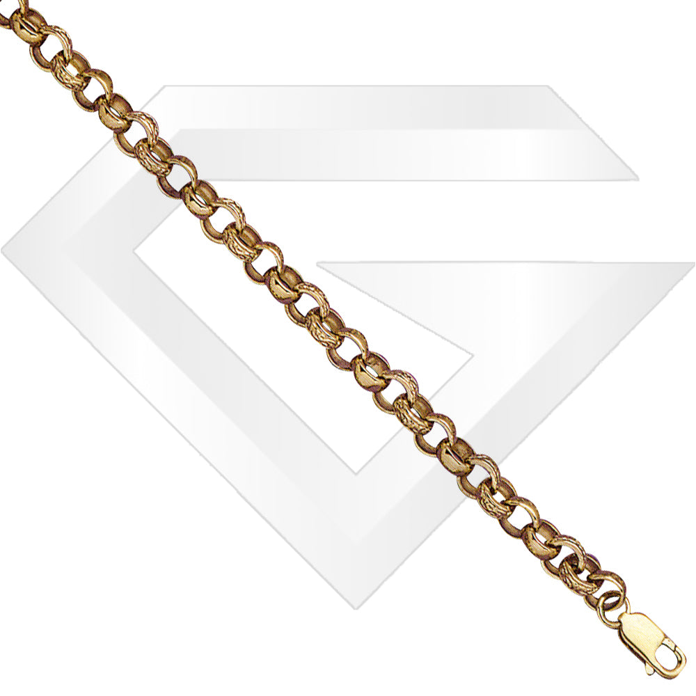 9ct UK Belcher Gold Chain / Bracelet (Gauge 2)