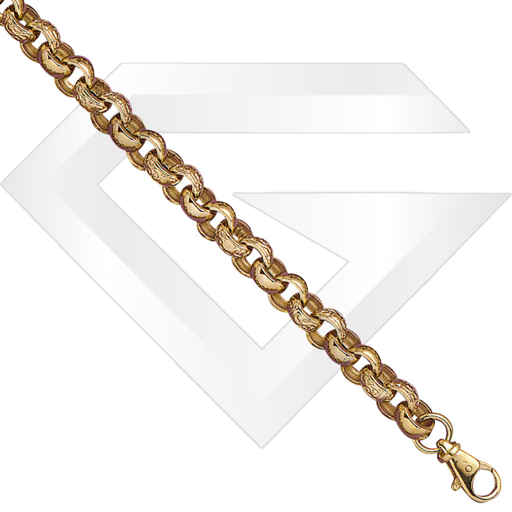 9ct UK Belcher Gold Chain / Bracelet (Gauge 4)