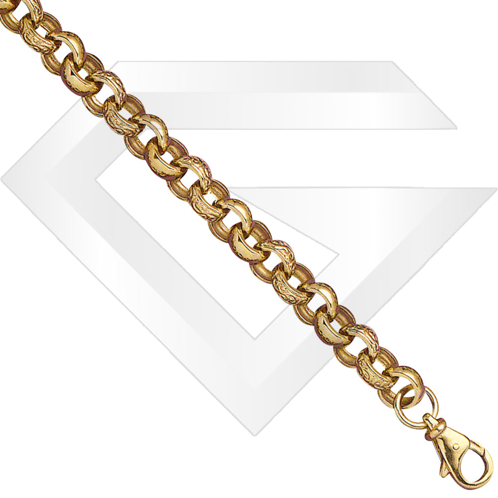 9ct UK Belcher Gold Chain / Bracelet (Gauge 5)