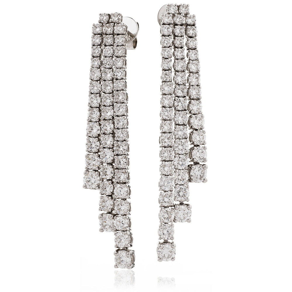 Line Drop Earrings 5.42ct